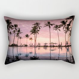 Pastel Sunset Palms Rectangular Pillow