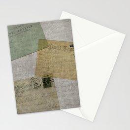 Vintage Postcards with Script Background Stationery Cards