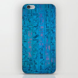Ancient egyptian blu iPhone Skin