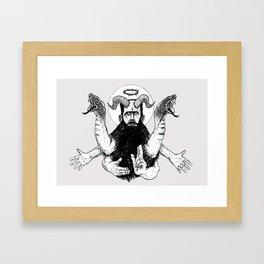 Jesus Frankenstein Framed Art Print