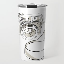 35mm SLR Film Camera Drawing Travel Mug