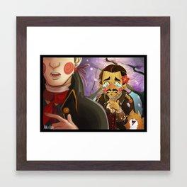 Haytham-senpai Framed Art Print