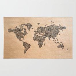 Henna Ink World Map Rug