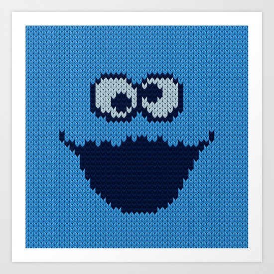 'hungry' monster knit Art Print