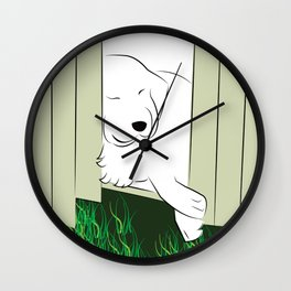Great Pyrenees Sleep it Off Wall Clock