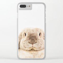 Bunny Rabbit Clear iPhone Case