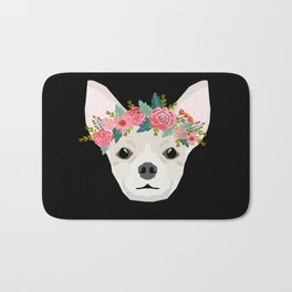 Chihuahua dog breed floral crown chihuahuas lover pure breed gifts Bath Mat