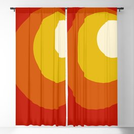 Ceridwen - Classic Colorful Abstract Minimal Retro 70s Style Dots Design Blackout Curtain