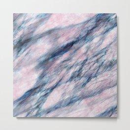 Red Blue Marble Metal Print