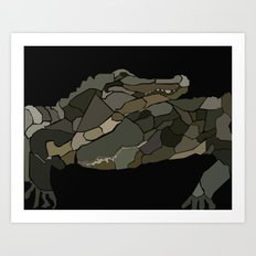 Mellifluous Crocodiles Art Print