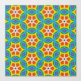 Fruity Retro Tropic Canvas Print