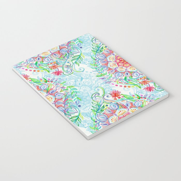 Messy Boho Floral in Rainbow Hues Notebook