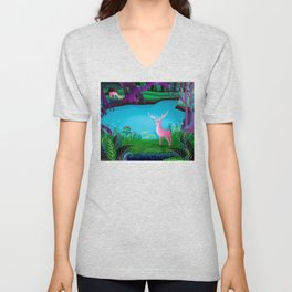 The Silent Deep Stream of Greendown Glenn Unisex V-Neck