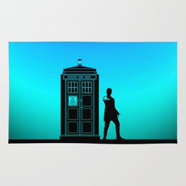 Tardis With The Twelfth Doctor Rug