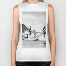 Vintage Hawaii Tandem Surfing Biker Tank
