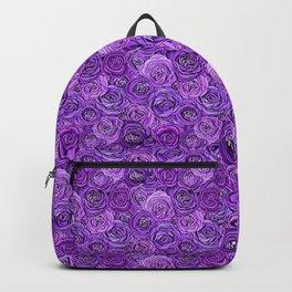valentines roses in purple / ultraviolet Backpack