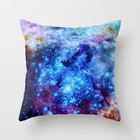galaxy Throw Pillows featuring galaxy by 2sweet4words Designs