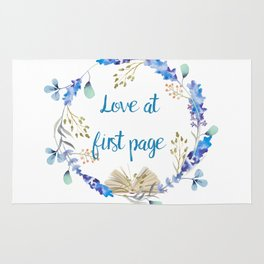 Love at first page Rug