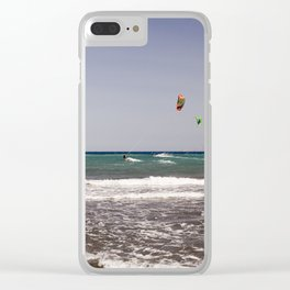 Kite surfing holiday sports Clear iPhone Case