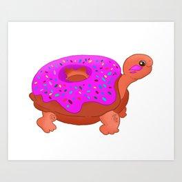 Turtle Donuts  Art Print
