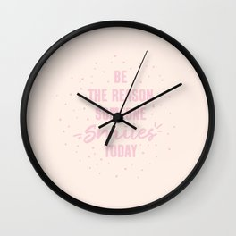 Smile Today Wall Clock