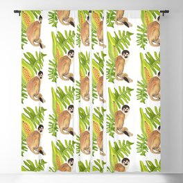 Squirrel Monkey for Climate Action Blackout Curtain