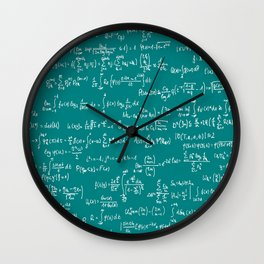 Math Equations // Teal Wall Clock