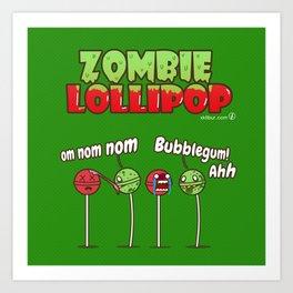 Zombie Lollipop Art Print