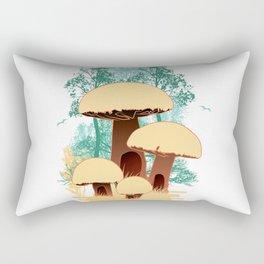 hidden mushroom houses Rectangular Pillow