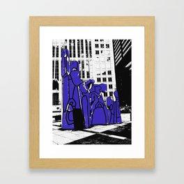 Chicago art print - art sculpture, 'Monument with Standing Beast' - urban photography Framed Art Print