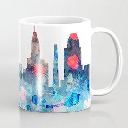 Watercolor Baltimore skyline design Coffee Mug