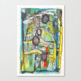 Casa de colors amb finestres-tortuga Canvas Print