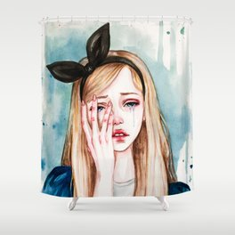Alice cries Shower Curtain