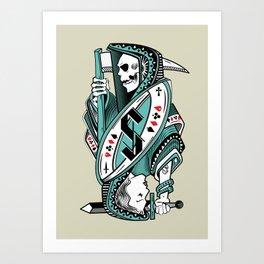 Death card Art Print