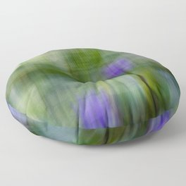 Tropical Impressionism (Purple Water Lily) Floor Pillow