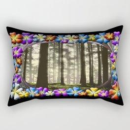 WOODLAND MISTS AND FLOWERS Rectangular Pillow