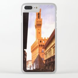 Vintage Florence Italy Travel Clear iPhone Case