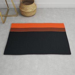 70s Orange Retro Striped Pattern Rug