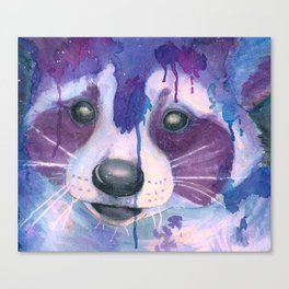 Watercolor Raccoon Canvas Print
