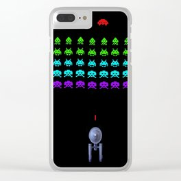 Space: (the final frontier) Invaders Clear iPhone Case