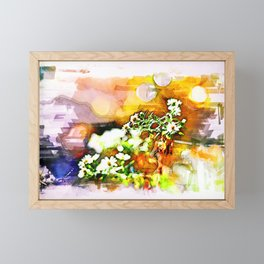Marker sketch of fall flowers Framed Mini Art Print