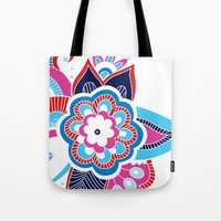 henna Tote Bags featuring Henna Colourful by nicky9