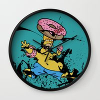 simpsons Wall Clocks featuring Simpsons 25th by sinonelineman