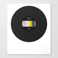 vinyl Canvas Prints featuring Vinyl by Long Weekend