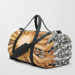 Amber Starburst Mandala Abstract Duffle Bag