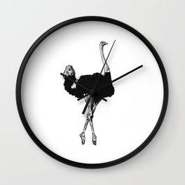 Ostrich Ballerina Wall Clock