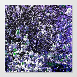 TREES PURPLE AND WHITE Canvas Print