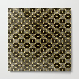 Black and gold geometric abstract pattern I- Luxury design for your home Metal Print