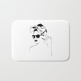 Girl vintag Bath Mat