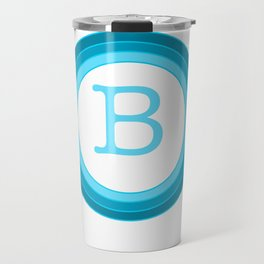 Blue letter B Travel Mug